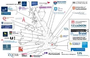 イギリス大学・大学院の地図